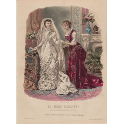 Gravure de La Mode Illustrée 1880 44