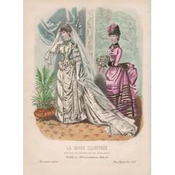Gravure de La Mode Illustrée 1885 08