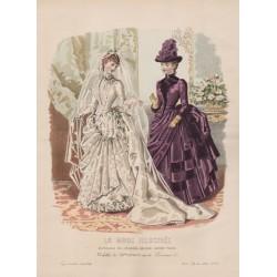 Gravure de La Mode Illustrée 1886 49