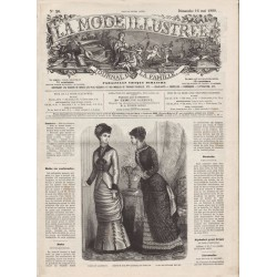 журнал мода La Mode Illustrée 1880 N°20