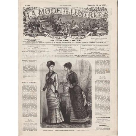 Complete magazine La Mode Illustrée 1880 N°20