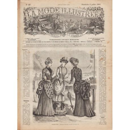 Complete magazine La Mode Illustrée 1883 N°27