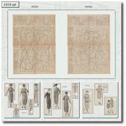 Patrons de La Mode Illustrée 1919 N°06