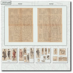 Patrons de La Mode Illustrée 1919 N°48