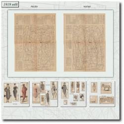 выкройку La Mode Illustrée 1919 N°48