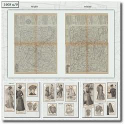 Sewing patterns La Mode Illustrée 1908 N°19