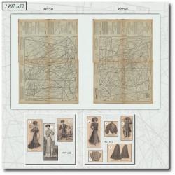 Patrons de La Mode Illustrée 1907 N°52