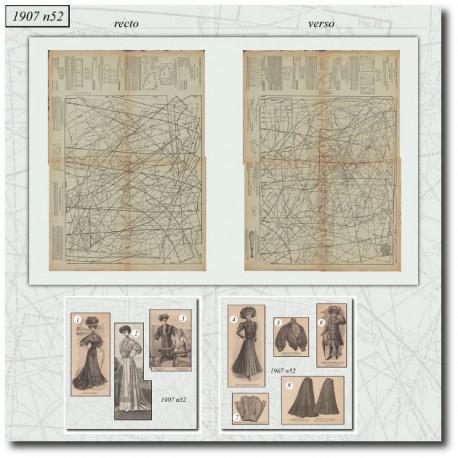 Sewing patterns La Mode Illustrée 1907 N°52