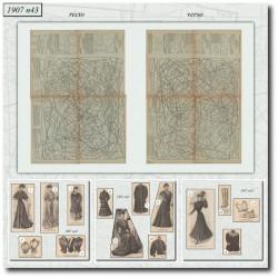 Patrons de La Mode Illustrée 1907 N°43