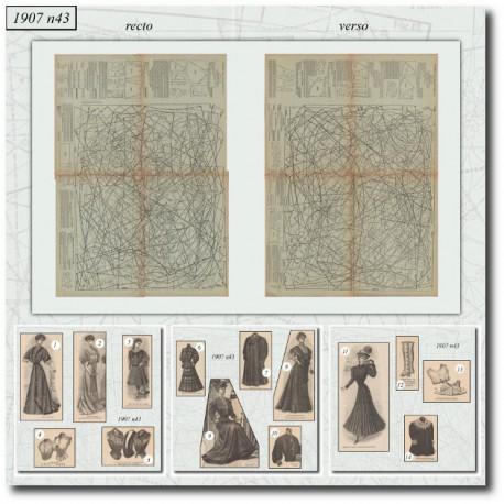 выкройку La Mode Illustrée 1907 N°43
