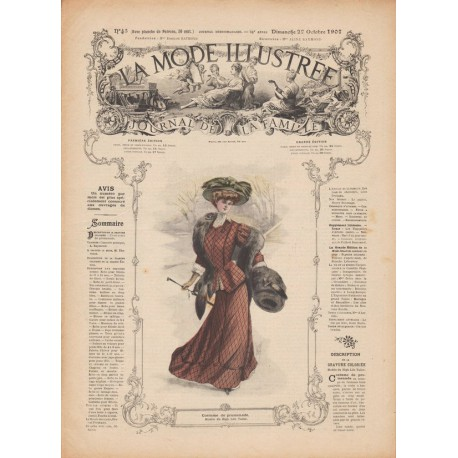 Revue complète de La Mode Illustrée 1907 N°43