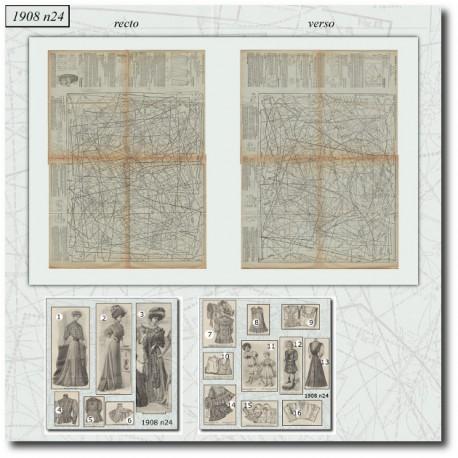 Sewing patterns La Mode Illustrée 1908 N°24