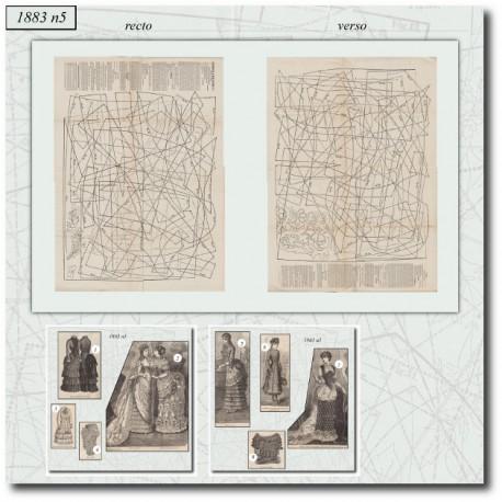Sewing patterns La Mode Illustrée 1883 N°5