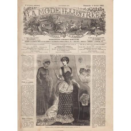 Complete magazine La Mode Illustrée 1883 N°05