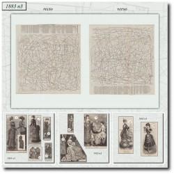 Patrons de La Mode Illustrée 1883 N°03