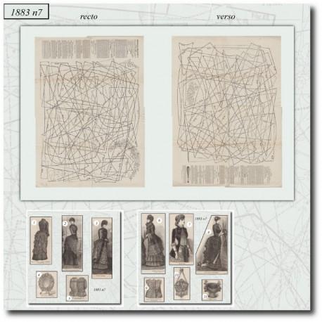 Sewing patterns La Mode Illustrée 1883 N°07