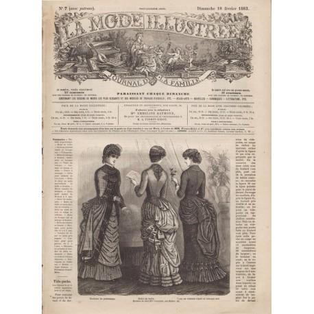 Complete magazine La Mode Illustrée 1883 N°07
