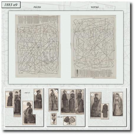 Sewing patterns La Mode Illustrée 1883 N°09