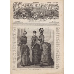 журнал мода La Mode Illustrée 1883 N°09