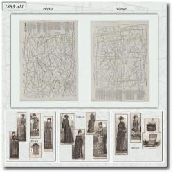 Patrons de La Mode Illustrée 1883 N°11