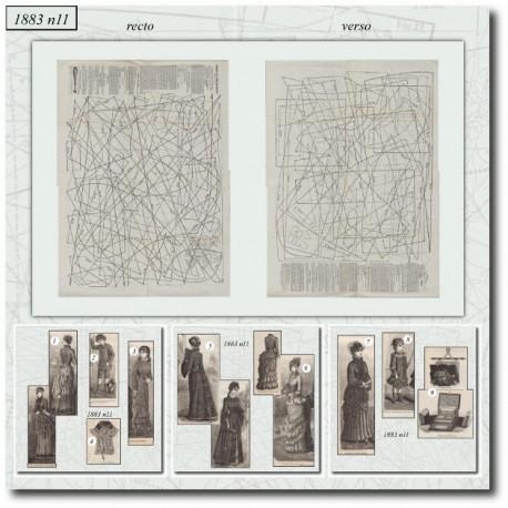 Sewing patterns La Mode Illustrée 1883 N°13