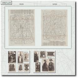 Patrons de La Mode Illustrée 1883 N°16
