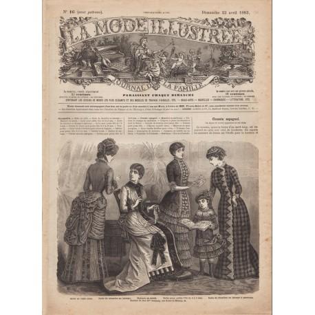 Complete magazine La Mode Illustrée 1883 N°16