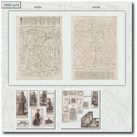 Sewing patterns La Mode Illustrée 1883 N°18