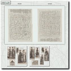 Sewing patterns La Mode Illustrée 1883 N°20