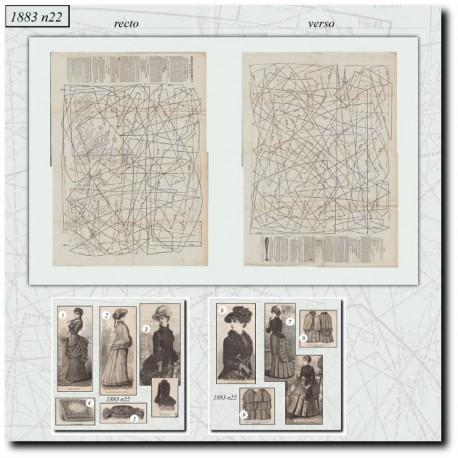Sewing patterns La Mode Illustrée 1883 N°22