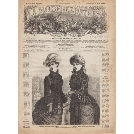 Complete magazine La Mode Illustrée 1883 N°22