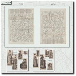 Sewing patterns La Mode Illustrée 1883 N°24