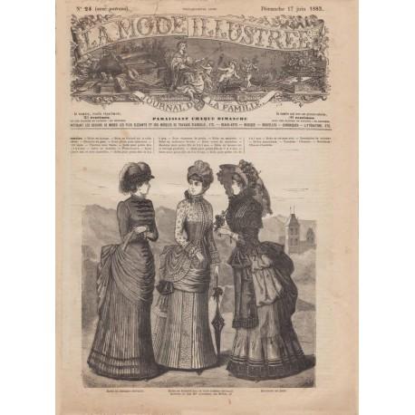 Complete magazine La Mode Illustrée 1883 N°24
