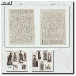 Sewing patterns La Mode Illustrée 1883 N°26
