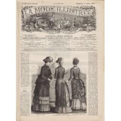 Complete magazine La Mode Illustrée 1883 N°26