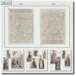 Patrons de La Mode Illustrée 1883 N°29