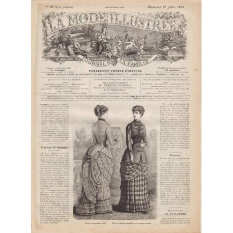Complete magazine La Mode Illustrée 1883 N°29