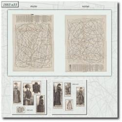 Patrons de La Mode Illustrée 1883 N°33