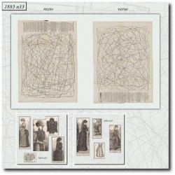 Sewing patterns La Mode Illustrée 1883 N°33
