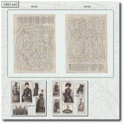 Patrons de La Mode Illustrée 1883 N°42