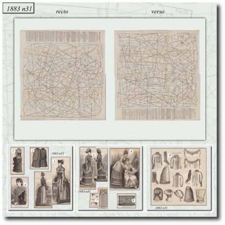 Sewing patterns La Mode Illustrée 1883 N°31