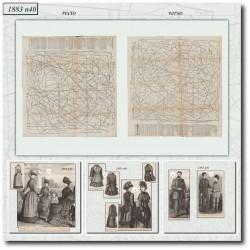 Patrons de La Mode Illustrée 1883 N°40