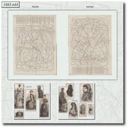 Sewing patterns La Mode Illustrée 1883 N°44