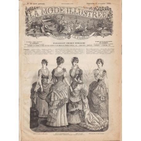 Complete magazine La Mode Illustrée 1883 N°44