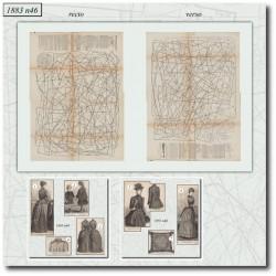 Patrons de La Mode Illustrée 1883 N°46