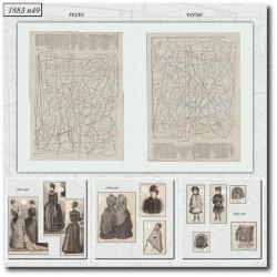 Patrons de La Mode Illustrée 1883 N°49