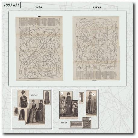 Sewing patterns La Mode Illustrée 1883 N°51