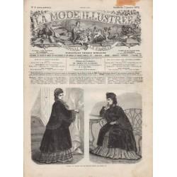 журнал мода La Mode Illustrée 1872 N°01