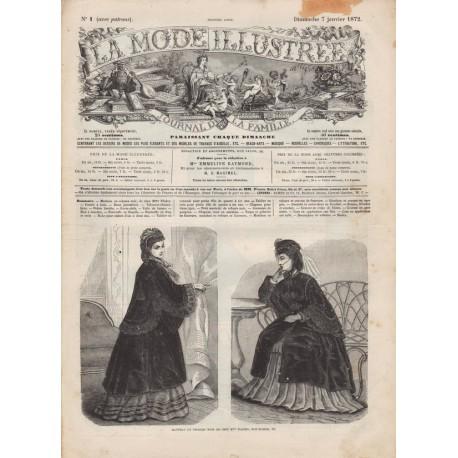 Complete magazine La Mode Illustrée 1872 N°01