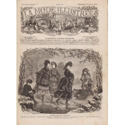 журнал мода La Mode Illustrée 1872 N°03